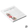 Christmas Lovin' Girl Christmas Present Gift List Notepad