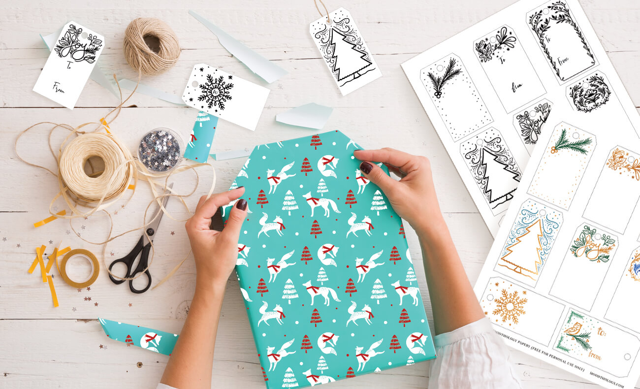 Christmas Gift Wrapping Ideas And Free Christmas Printable Gift Tags From Moodthology Papery