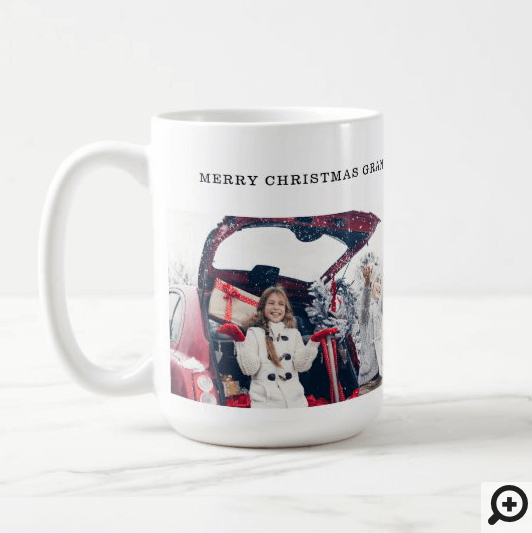 Merry Christmas Grandpa Multiple Photo Collage Coffee Mug