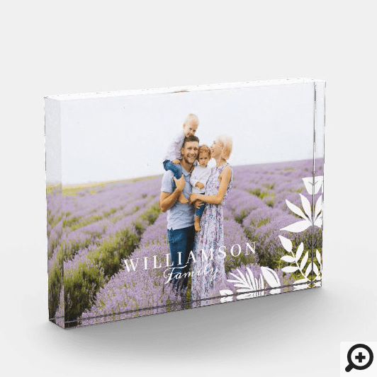 Modern Minimal Floral Leaf Family Moment Photo Block