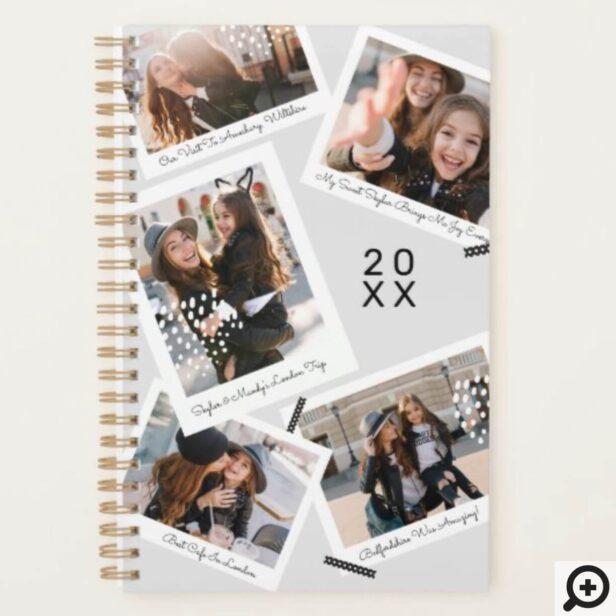 Modern Trendy Photo Snapshot Scrapbooking Collage Planner