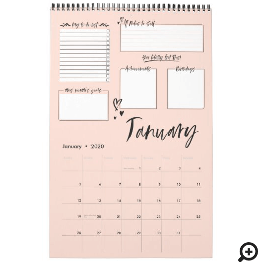 Organized Chaos Motivational Monthly Planning Calendar