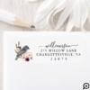 Beautiful Bohemian Style Watercolor Bird & Branch White Label