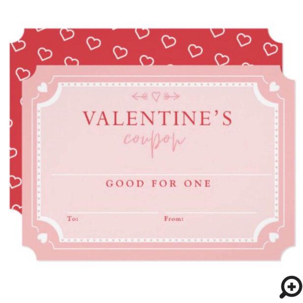 Cute Vintage Valentine's Day Coupon Voucher Invitation