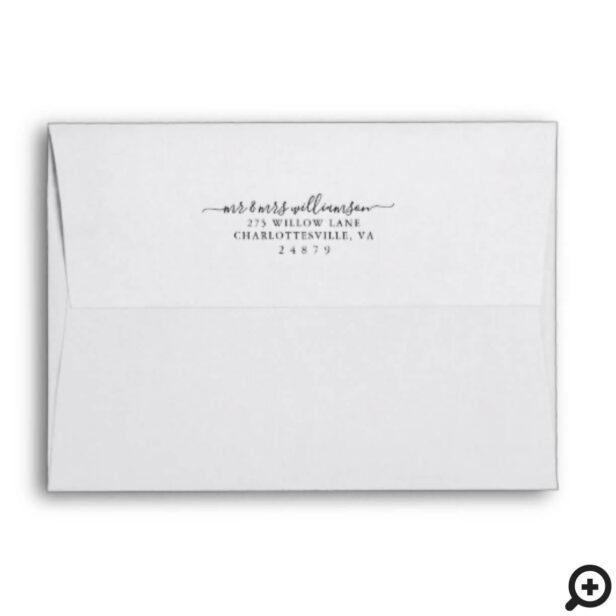 Mr & Mrs Christmas | Modern Copper Geometric Photo Envelope