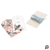 To & From Floral Bird's Nest Baby Shower Pink Gift Tags