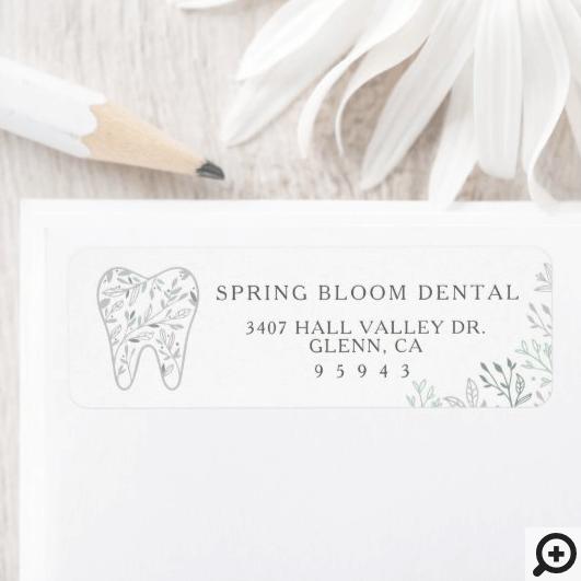 Blooming Flourishing Dental Tooth Tree Logo Label