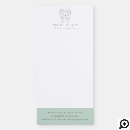 Blooming Flourishing Dental Tooth Tree Logo Magnetic Notepad