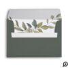 Minimal Leaf Watercolor Sage Greenery Wedding Envelope