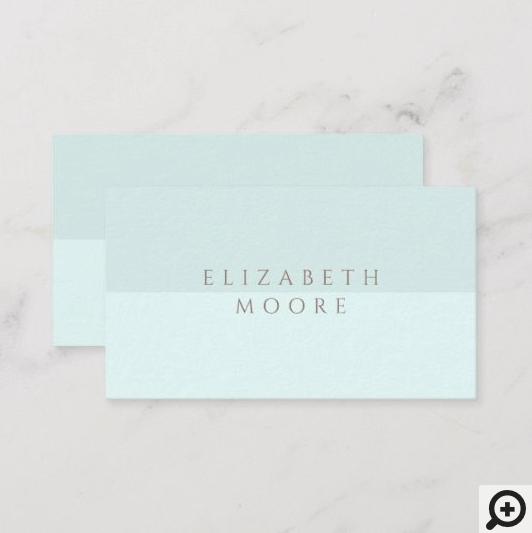 Modern, Minimal & Elegant Blue Duotone Business Card