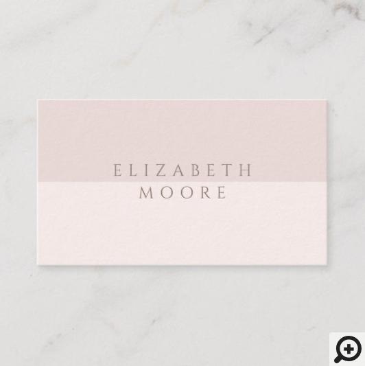 Modern, Minimal & Elegant Pink Duotone Business Card