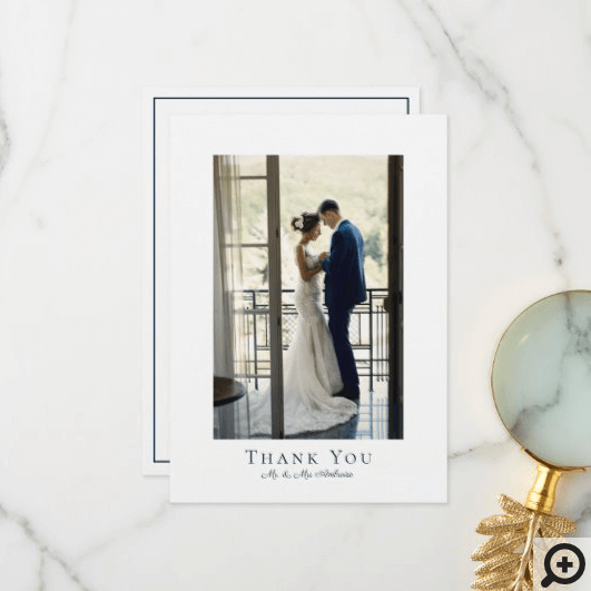 Modern Minimal Wedding Photo Thank You