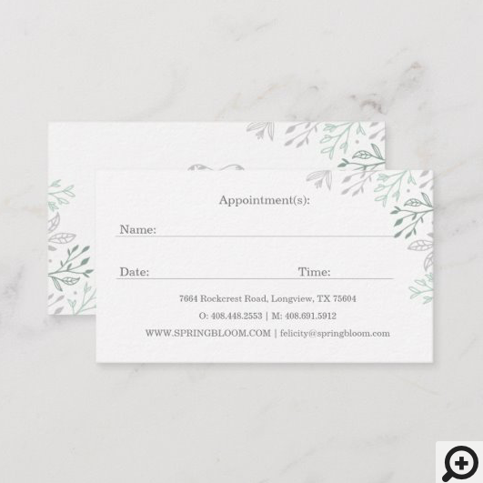 Elegant & Regal Dental Tooth Tree Logo Appointment Business Card