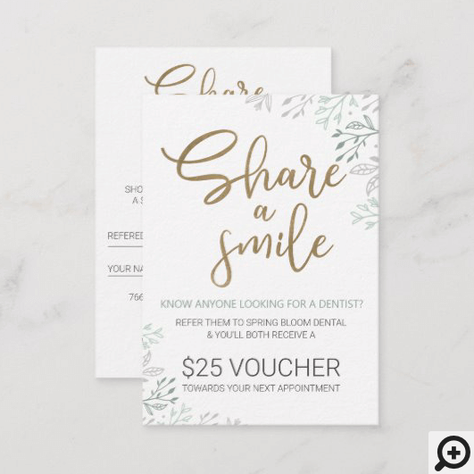 Share a Smile Dental Referral Program Business Card