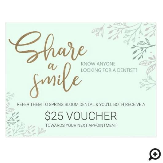 Share a Smile Dental Referral Program Postcard