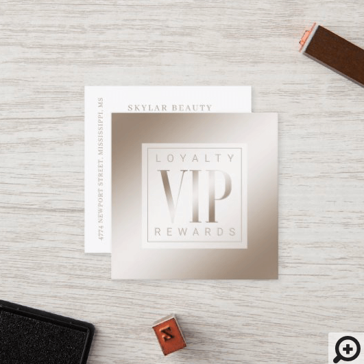 Sheer Elegant Luxurious Champagne Shine VIP Loyalty Card