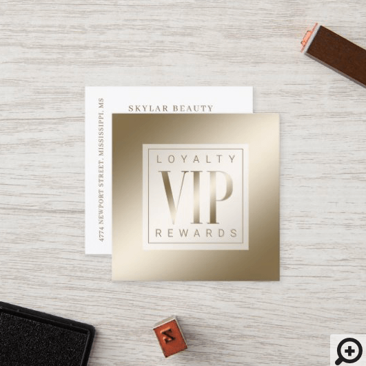 Sheer Elegant Luxurious Golden Shine VIP Loyalty Card