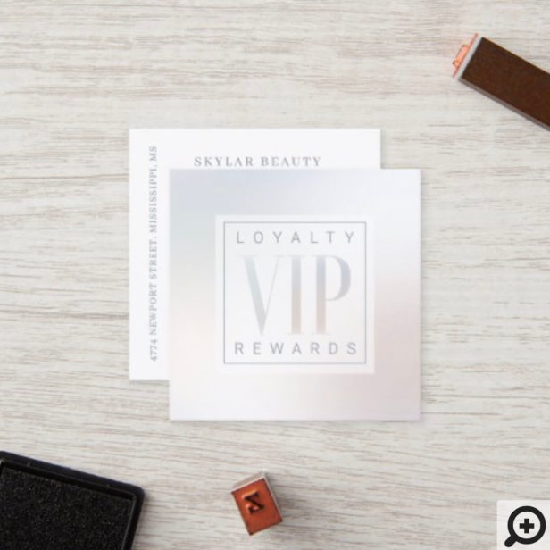 Sheer Elegant Luxurious Pearl Shine VIP Loyalty Card