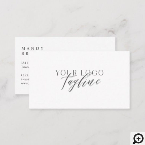 Add Your Logo Modern, Elegant & Minimal Business Card