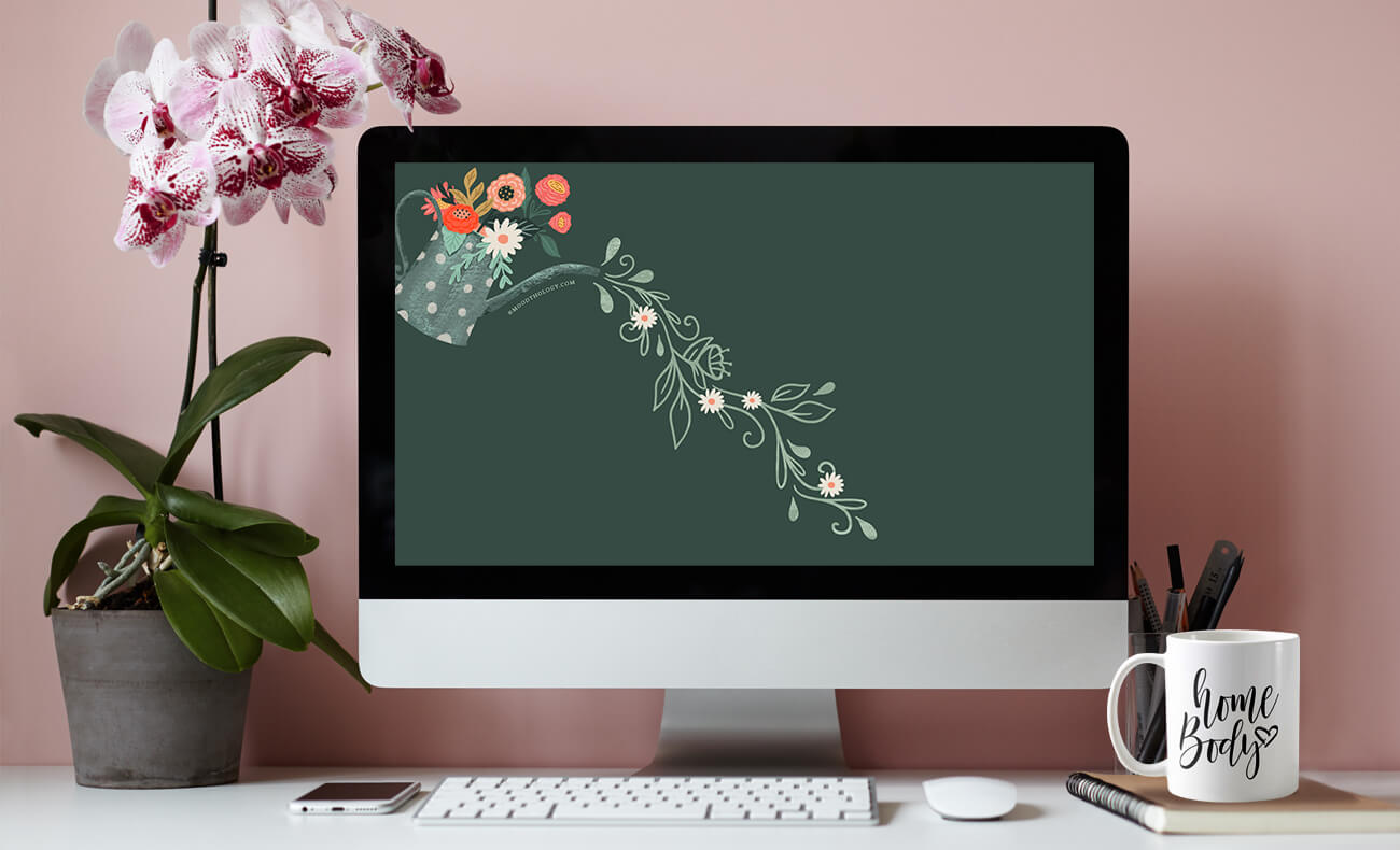 April free desktop wallpaper By Moodthology Papery
