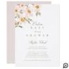 Gardenia Watercolor Florals Online Baby Shower Invitation