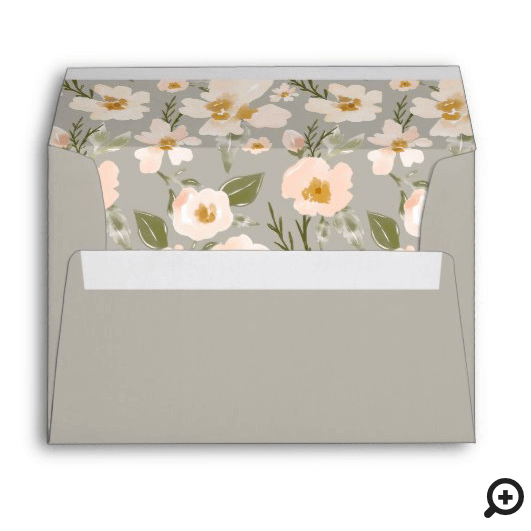 Pink Gardenia Watercolor Will You Be My Bridesmaid Envelope