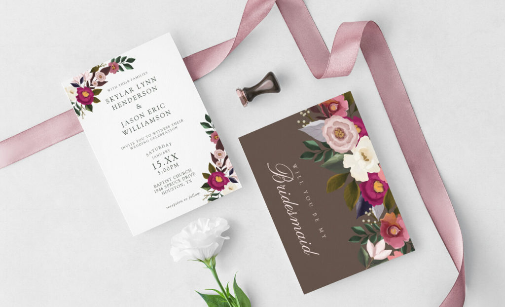 Romantica Floral Wedding Collection By Moodthology Papery