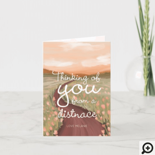 Thinking Of You From A Distance Thank You Card