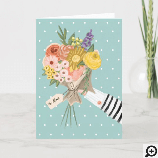 Wildflower Floral Bouquet Mother's Days Card
