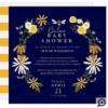 Wildflowers & Honey Bee Floral Online Baby Shower Invitation