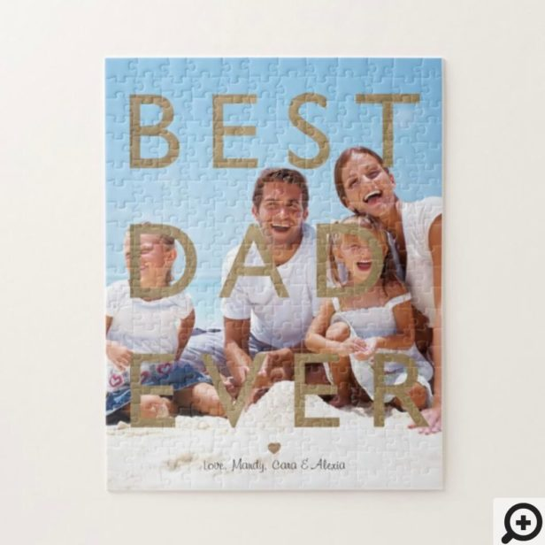Best Dad Ever Custom Full Photo Happy Father's Day Jigsaw Puzzle