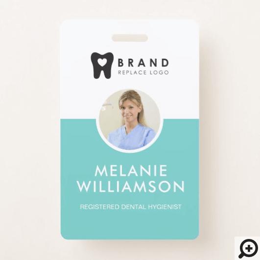 Modern & Minimal Circle Photo Frame & Company Logo Badge