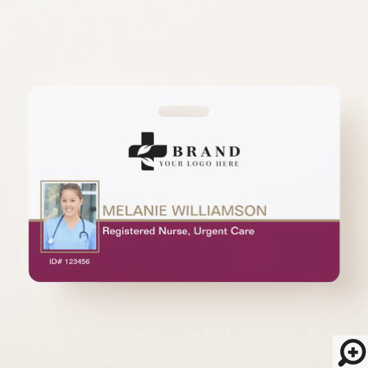 Modern & Minimal Photo Frame & Company Logo Badge