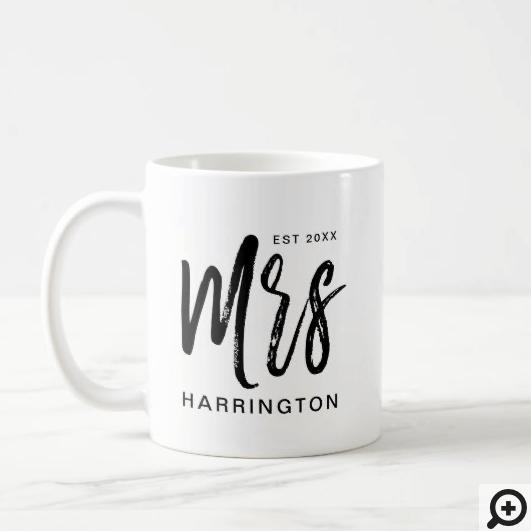Modern & Minimal Typographic Mrs Wifey Coffee Mug
