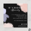 Artistic & Modern Abstract Paint Brush Stroke Square Business Card