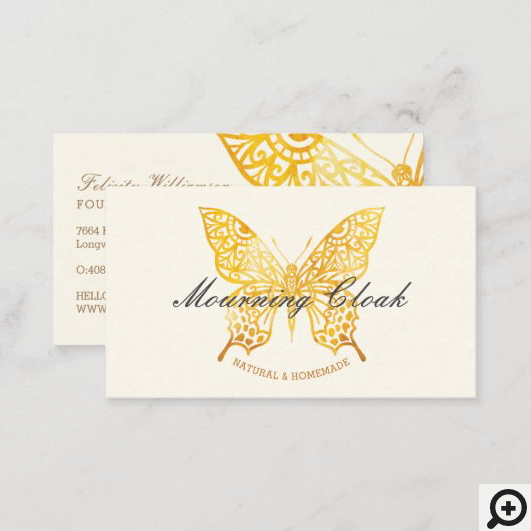 Beautiful Elegant & Ornate Decorative Butterfly Label