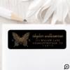 Beautiful Ornate Decorative Butterfly Logo Black Label