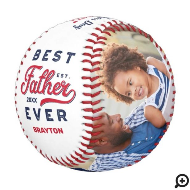 Best Father Ever | Father's Day Photos & Monogram Baseball