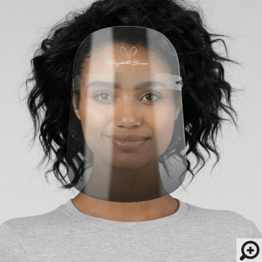 Black Ombre Modern Minimal Hair Salon Scissor Logo Face Shield
