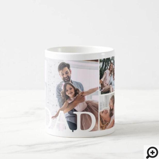 DAD Multiple Photo Collage & Custom Monogram Coffee Mug