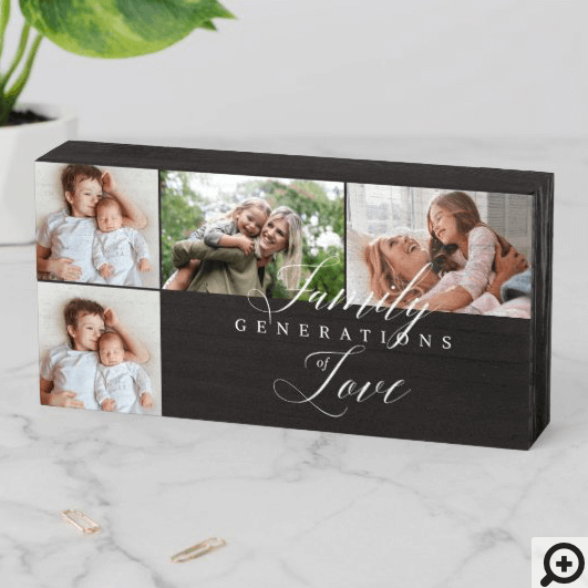 Custom Monogram Photo Collage Grid Forest Green iPhone Wallet Case