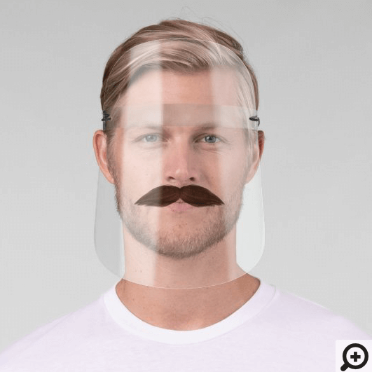 Fun Disguise Brown Facial Hair Groomed Moustache Face Shield