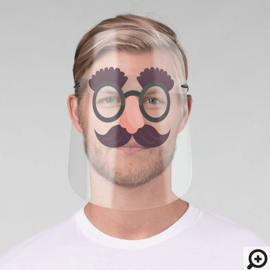 Funny Moustache, Eye Glasses & Nose Disguise Mask