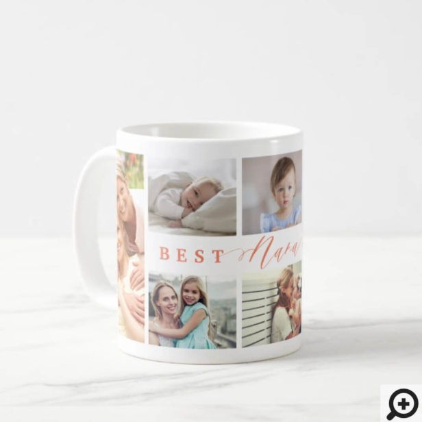 Gift For Best Nana Ever Family Photo Collage Coffee Mug
