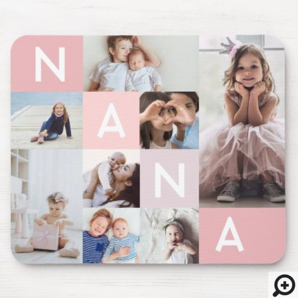 Gift For Nana | Nana Modern Multiple Photo Grid Mouse Pad