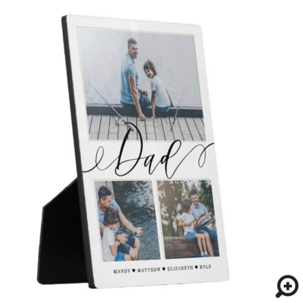 Gift for Dad | Family Memories 3 Photo Collage Plaque