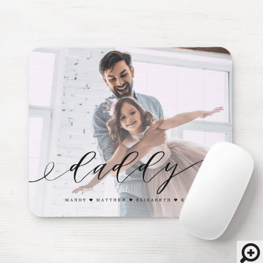 Gift for Daddy | Father's Day Fully Photo Memory Mouse Pad