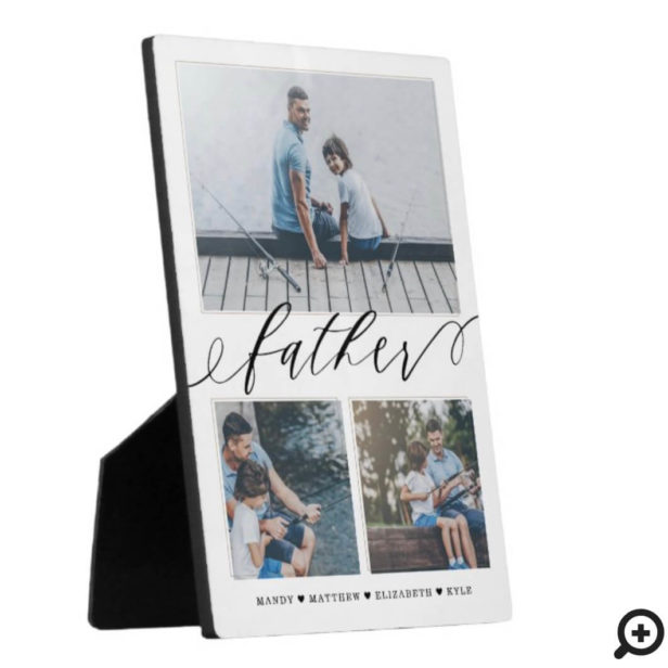 Gift for Father | Family Memories 3 Photo Collage Plaque