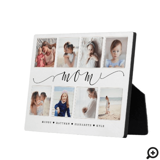 Gift for Mom | Family Photo Keepsake Collage Plaque