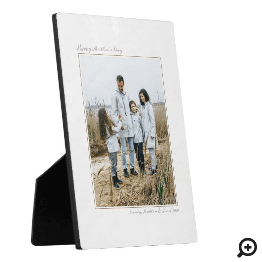 Happy Mother's Day, Modern Minimal Photo Memory Plaque